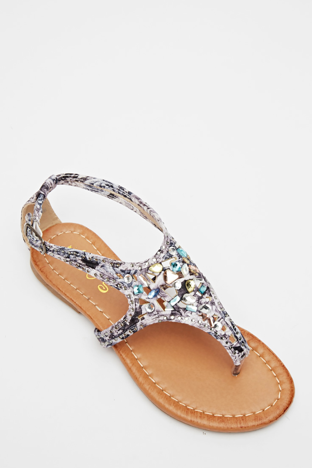 c145a6790 Cut Out Embellished Flip Flop Sandals - Just £5
