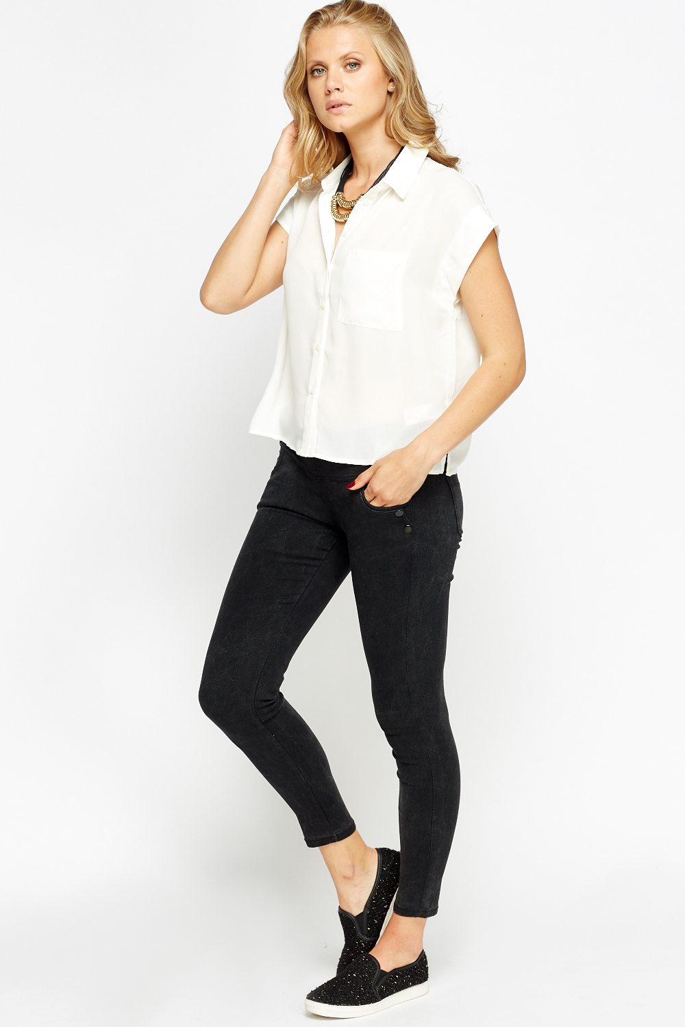 d8a8bb35 Off White Casual Sheer Shirt Blouse - Just £5
