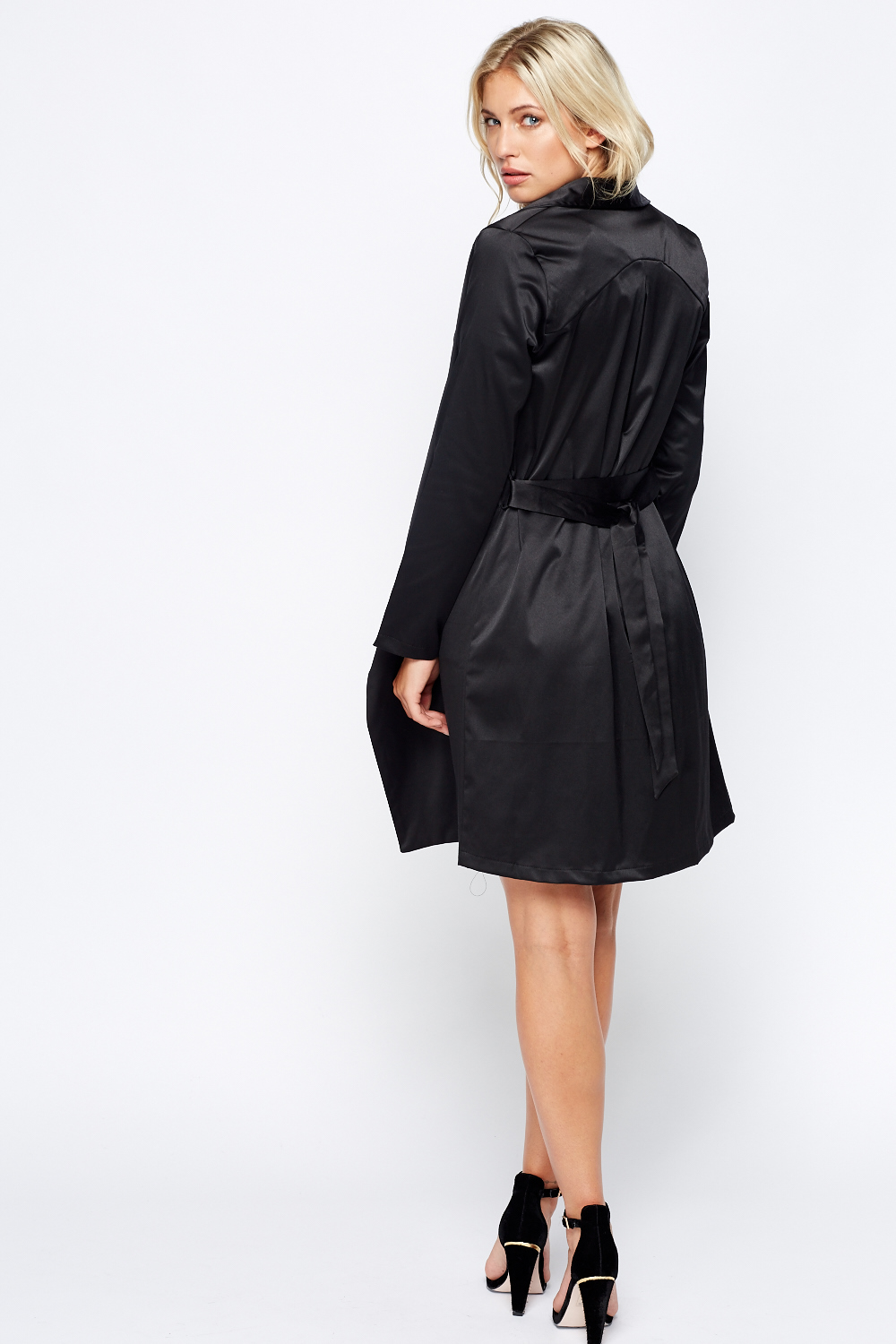 Thick Satin Trench Coat Just 163 5
