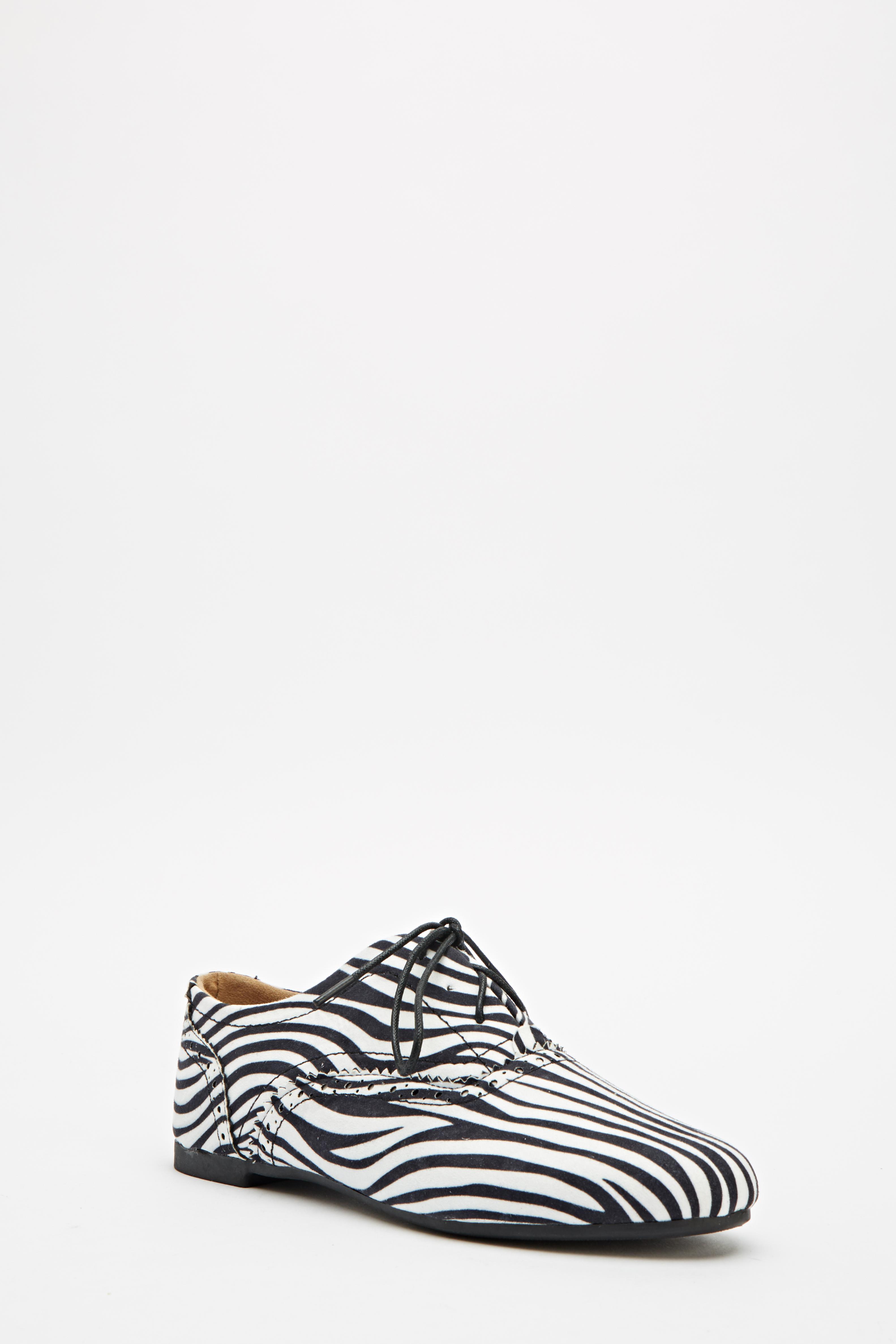 e3de4e0f48cc Zebra Print Lace Up Shoes - Just £5