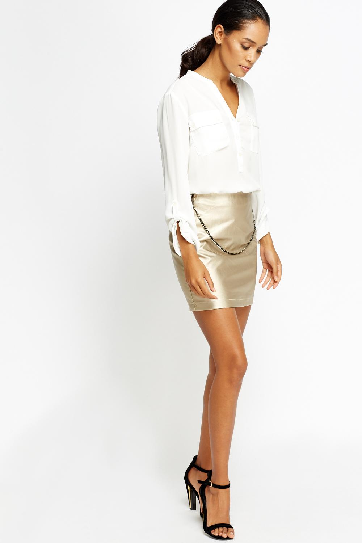 Mini £5 Metallic Chain Just Skirt WD29YHEI