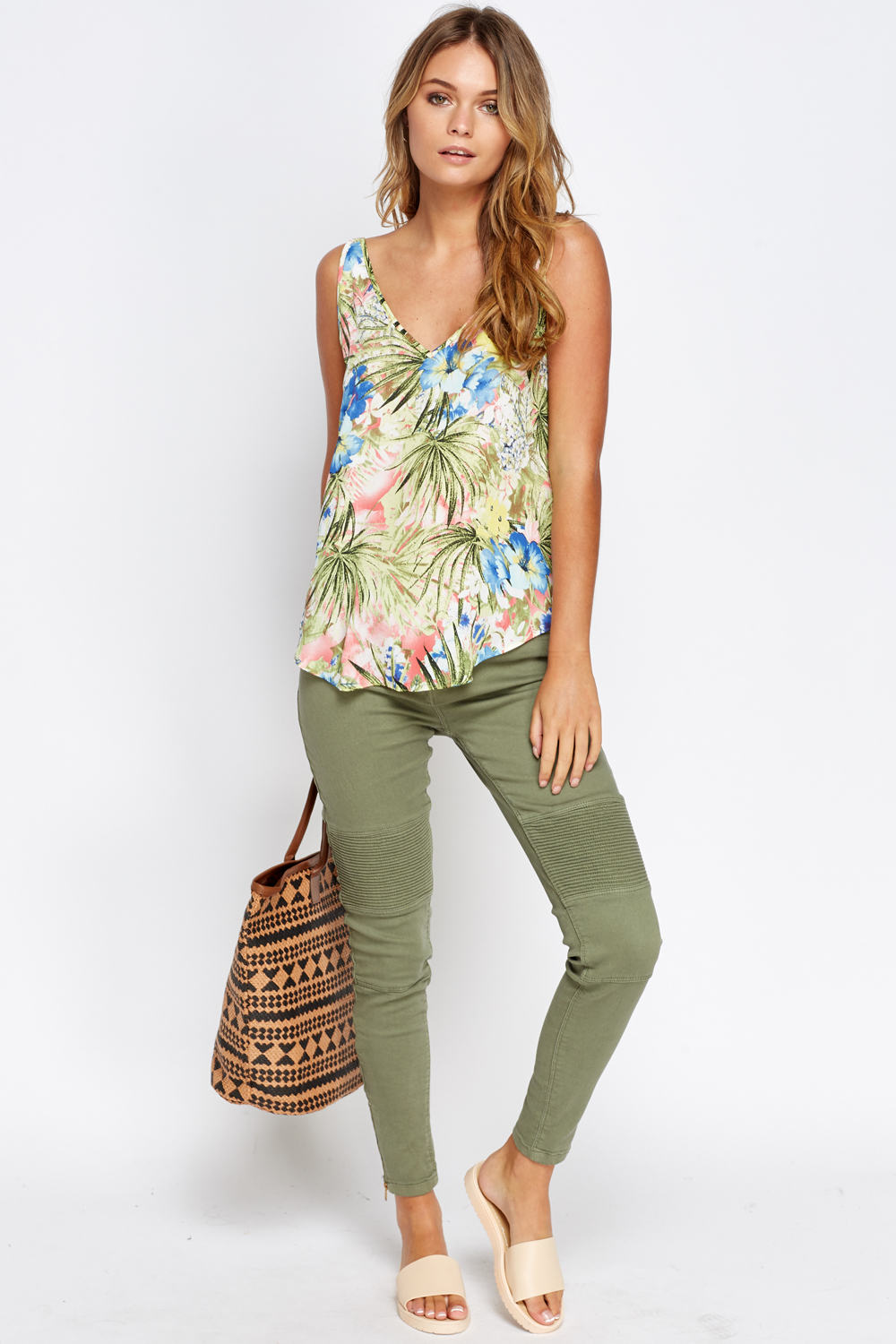 wild floral cami top just 5