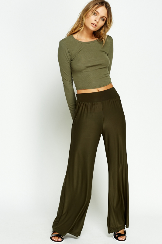 12cb0cdc07 Elasticated Wide Leg Trousers - Just £5