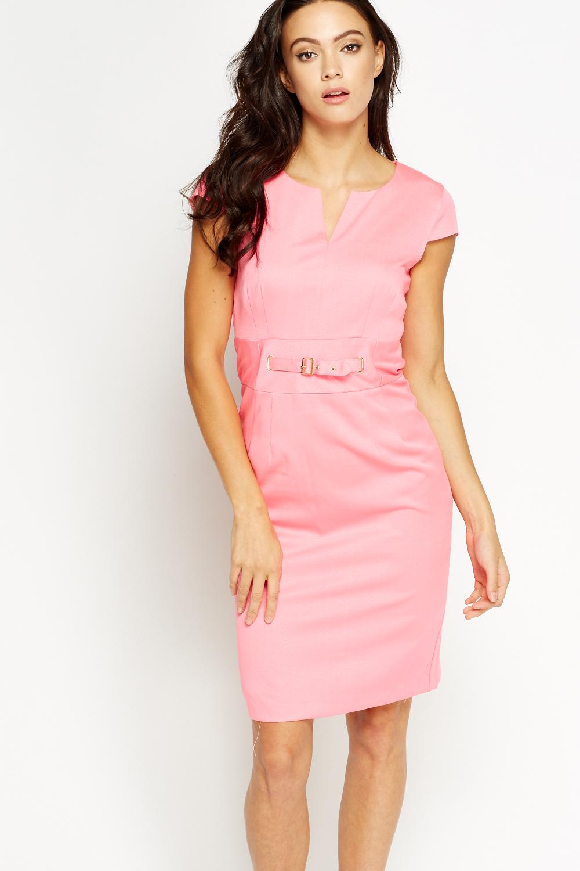 f55e9cd8797 Buckle Waist Smart Dress - Just £5