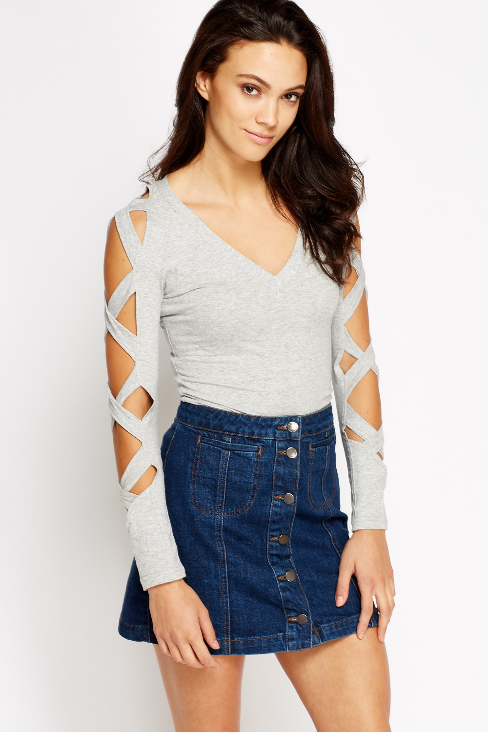 9de6986ad9 Cut Out Sleeve Top - Just £5