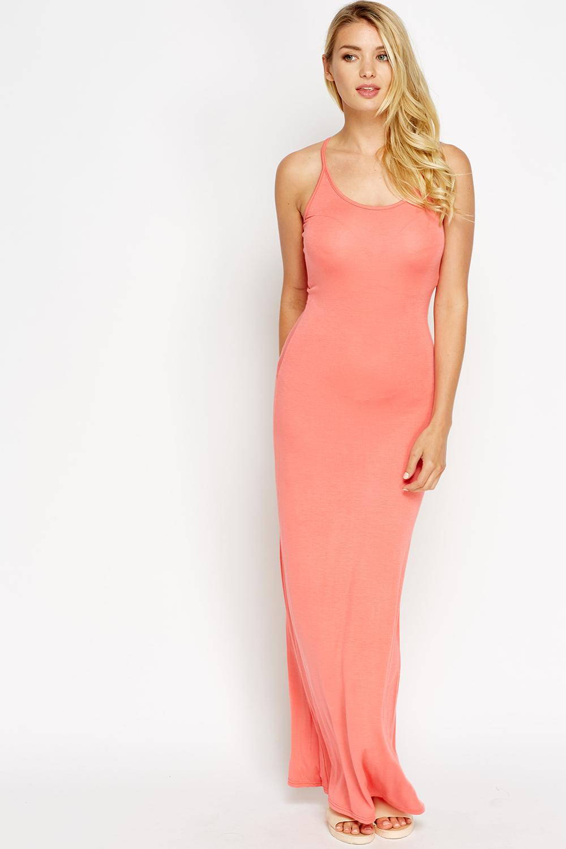 Maxi Jurk Basic.Basic Maxi Dress Just 5