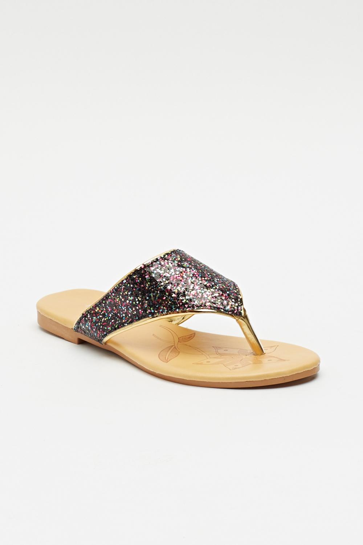 glitter flip flop sandal just 5. Black Bedroom Furniture Sets. Home Design Ideas