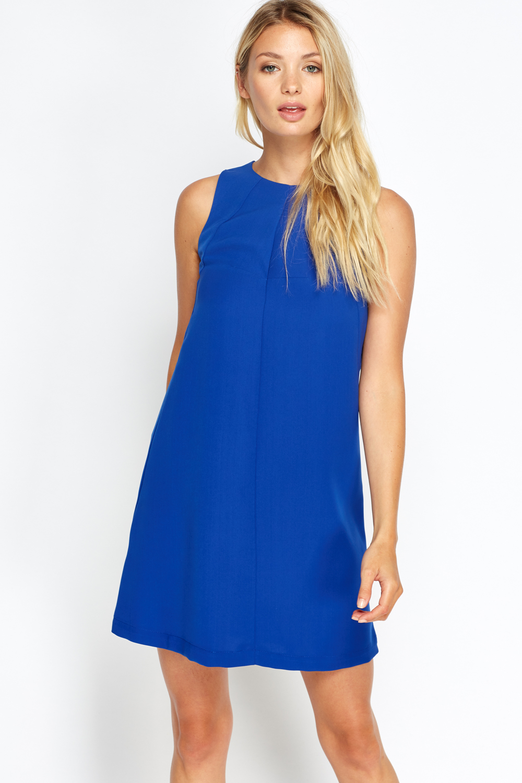 Royal Blue Shift Dress - Just £5