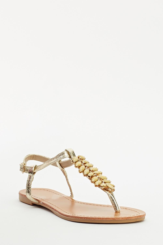 60b31139b6140 Embellished Flip Flop Sandal - Just £5