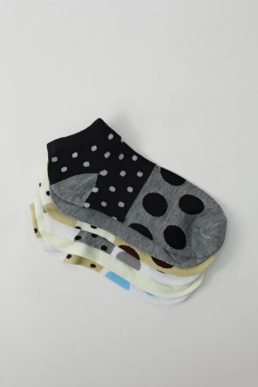 Mixed Polka Dot 6 Pairs Invisible Socks Just 163 5