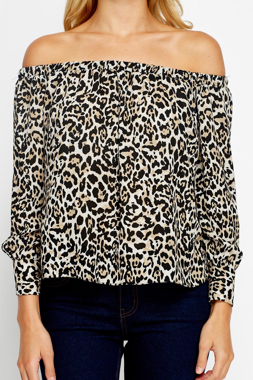 f5cdfe570590 Leopard Print Off Shoulder Top - Just £5