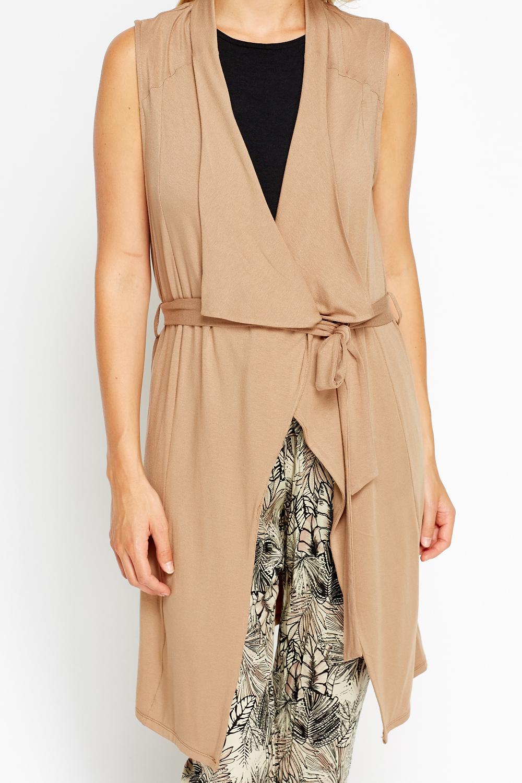 Sleeveless Light Brown Cardigan - Just £5