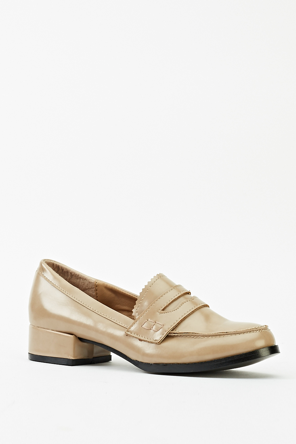 dd55843600afc Low Block Heel Loafers - Just £5