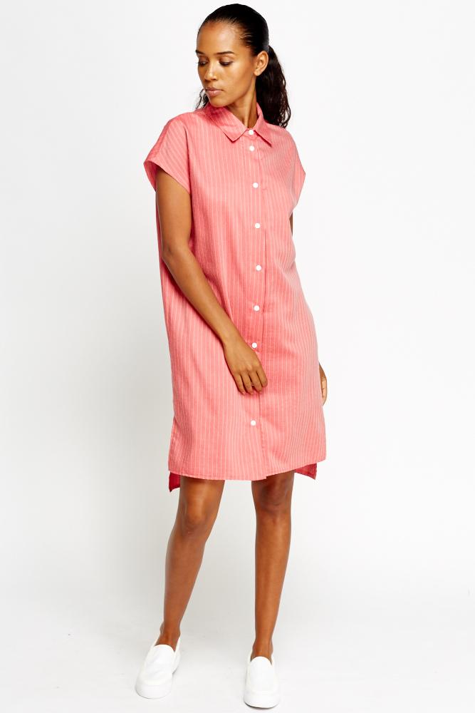 70a5aa6b2d57 Dark Azalea Shirt Dip Hem Dress - Just £5