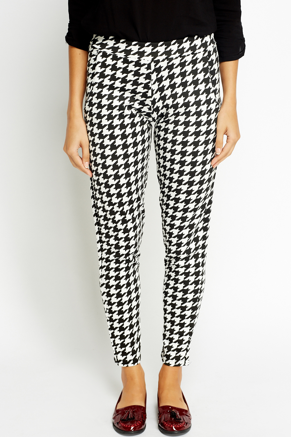 Houndstooth Formal Printed Trousers Just 163 5