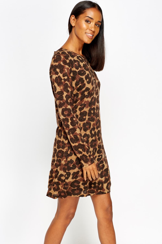 91dab8c806 Leopard Print Swing Dress - Just £5