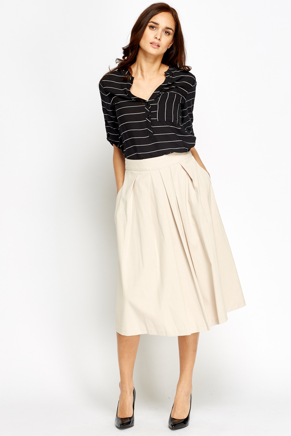 Beige Midi Skirt - Just £5