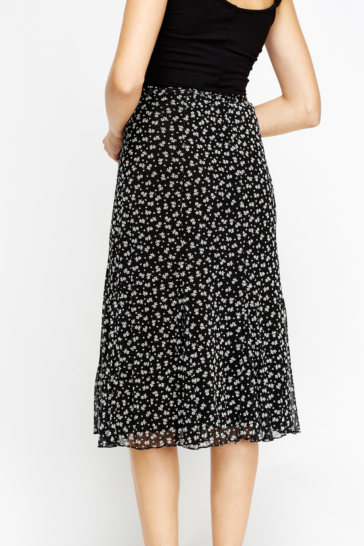 black floral tie up skirt just 163 5