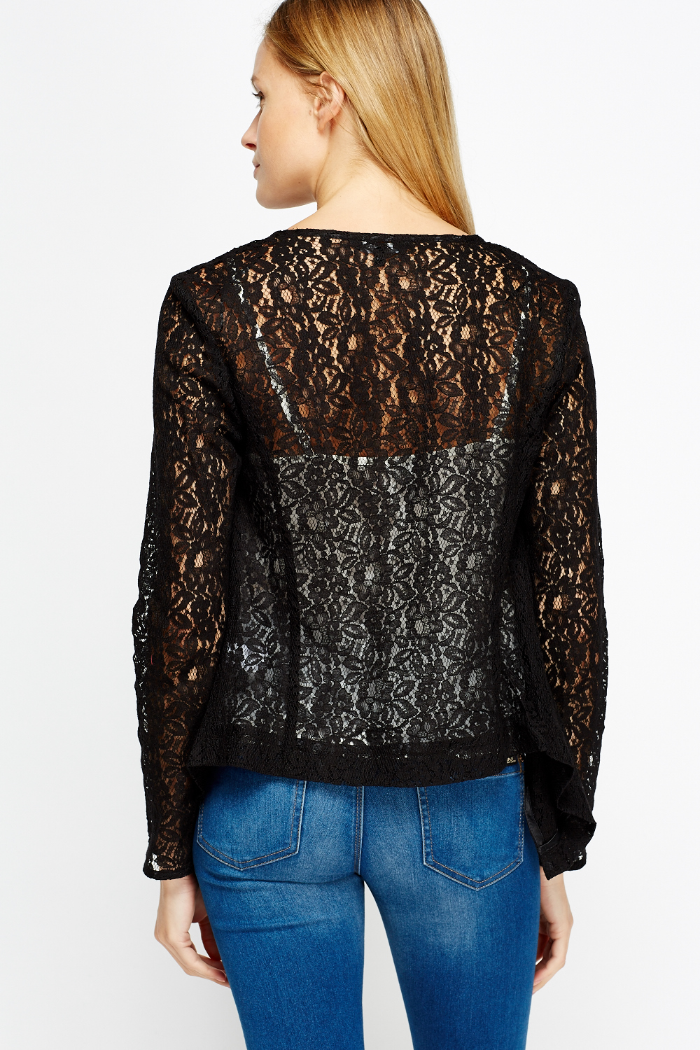 Lace Waterfall Cardigan - Just £5