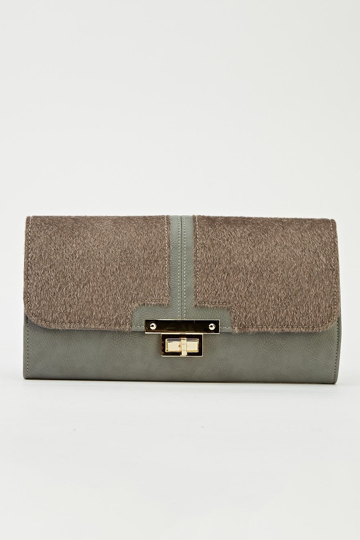 Faux Fur Panel Clutch Bag - Just £5 4e2a9312d610a