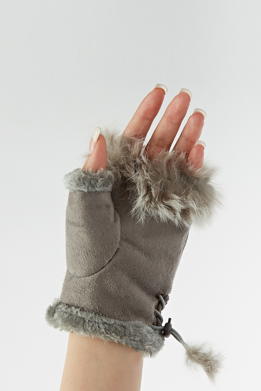 Faux Fur Trim Fingerle...