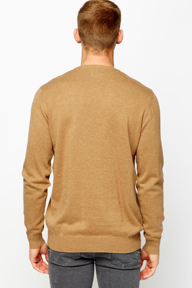 e18e75383832c3 V-Neck Light Brown Jumper - Just £5