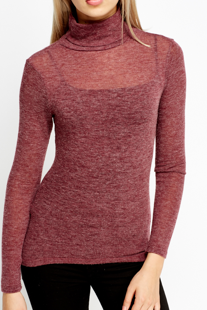 Turtle Neck Thin Jumper Just 163 5