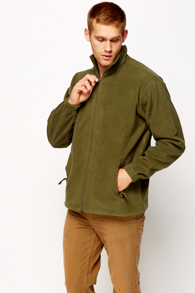 Zip front fleece jumper just 5 for Zip front flannel shirt