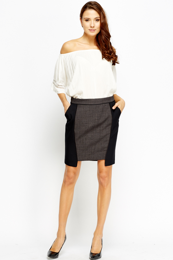 f5e4820cd Contrast Panel Formal Skirt - Just £5