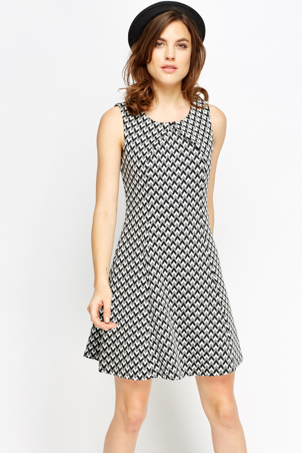 e808dd05f3 Mono Textured Shift Dress