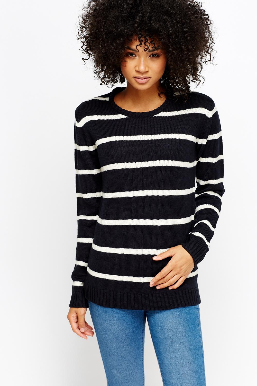 Stripe Knit Jumper - Just ?5