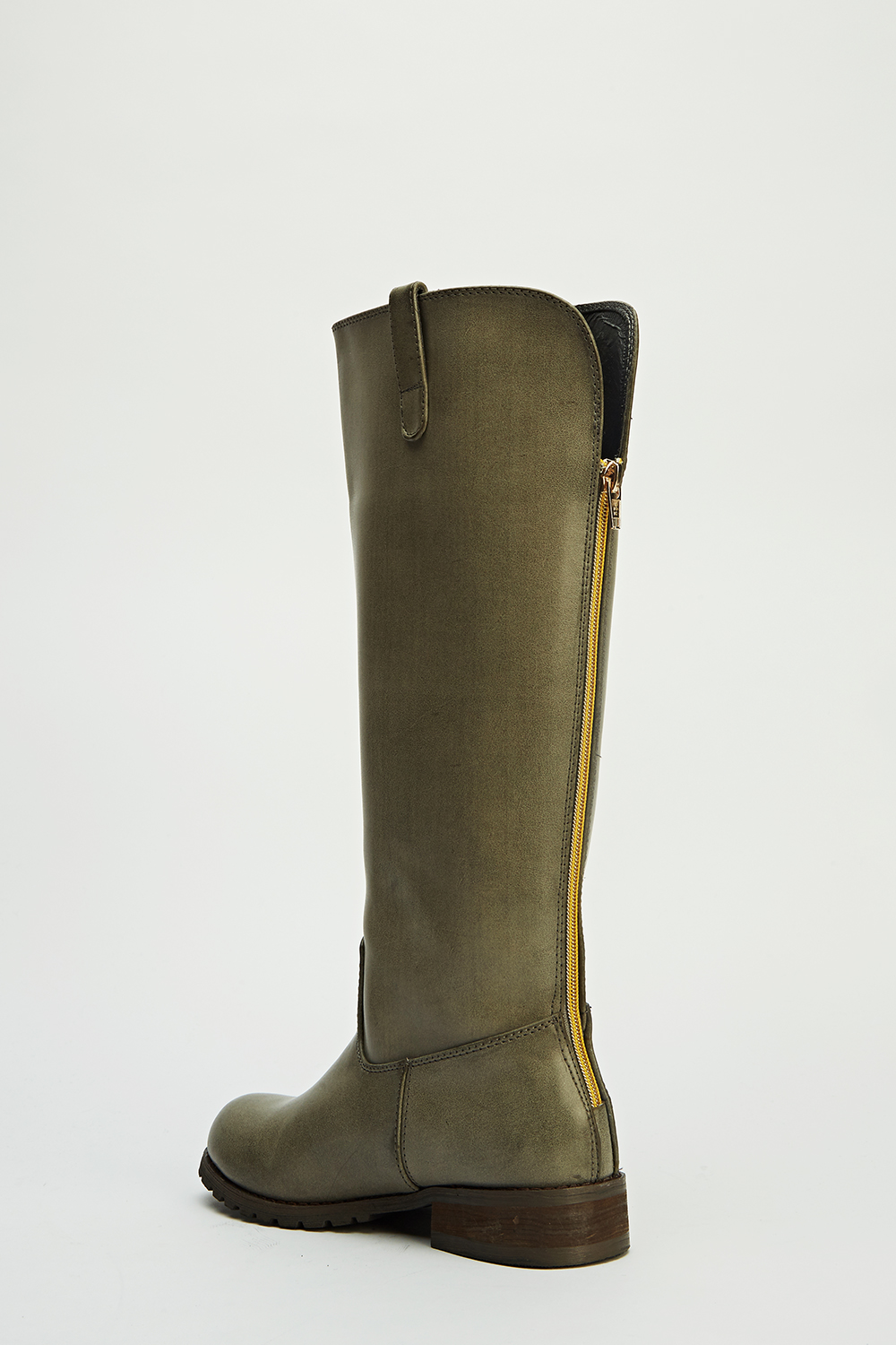 high knee heeled boots just 163 5