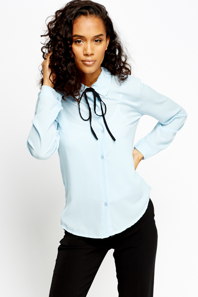 9c0ed55c70d Button Up Tie Up Blouse - Just £5