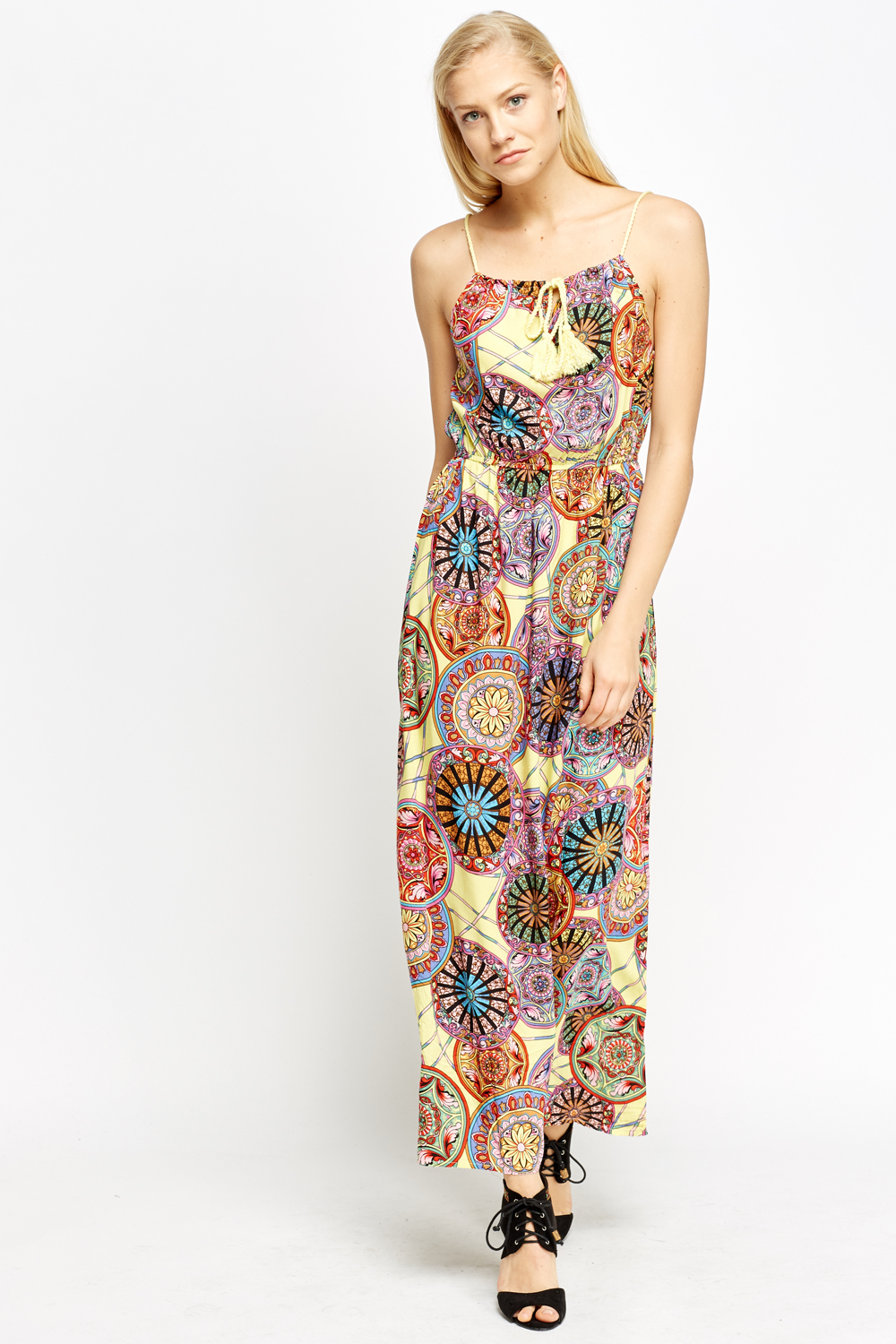 Kaleidoscope Print Maxi Dress Just 163 5