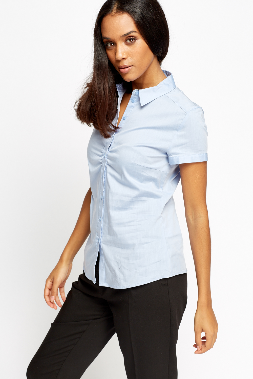 fitted button up shirt just 5
