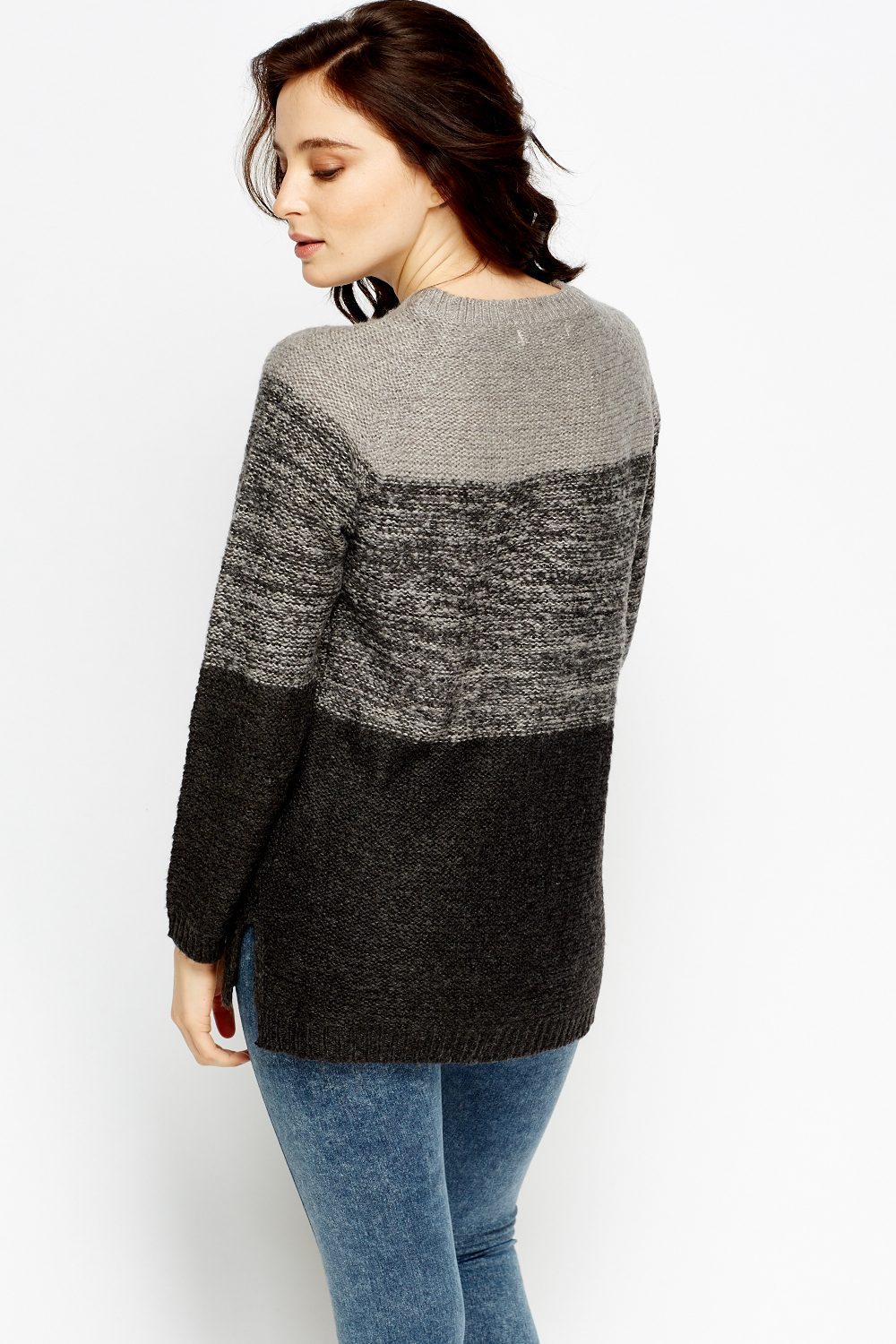 Colour Block Knitted Jumper Just 163 5