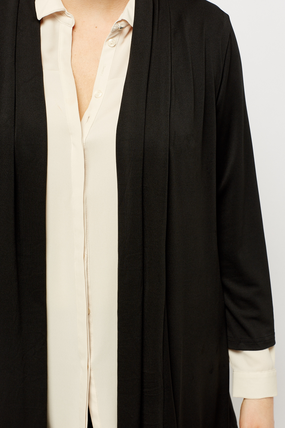 Black Open Front Cardigan - Just £5
