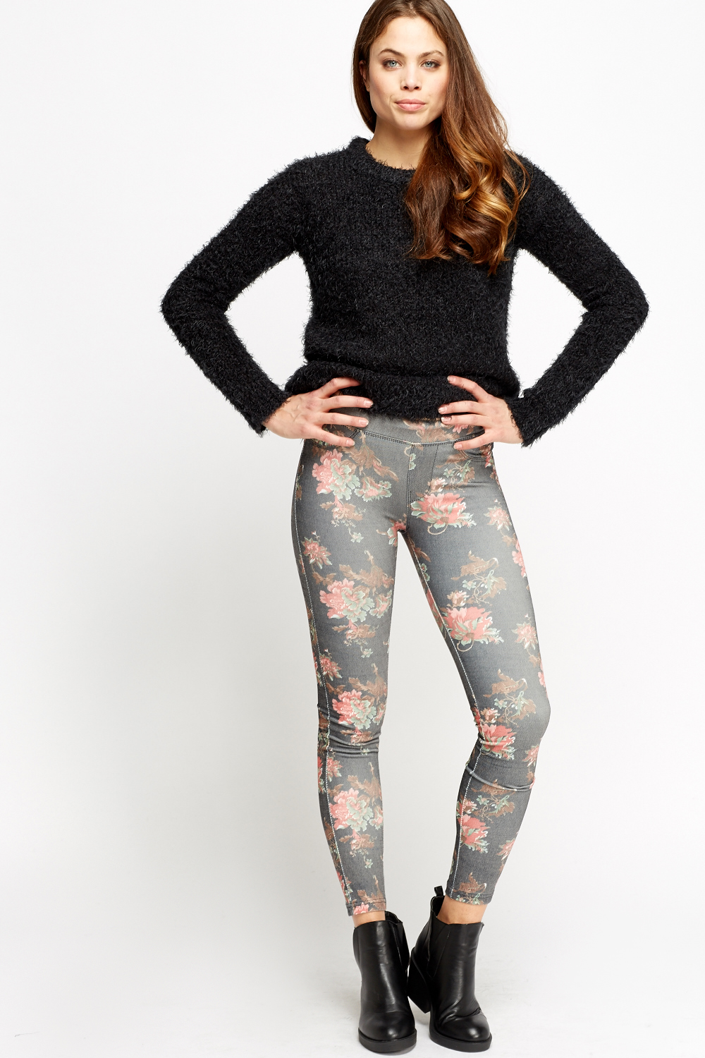 76e0d7b0d2ad5 Floral Printed Jeggings - Just £2