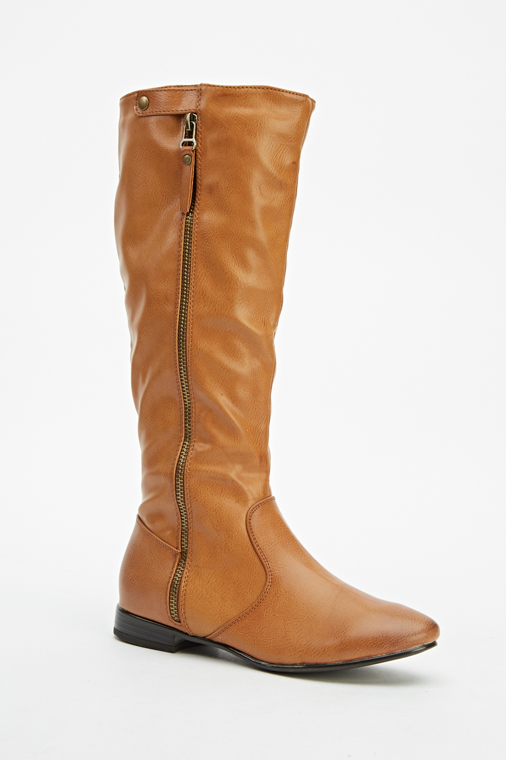 faux leather knee high boots just 163 5