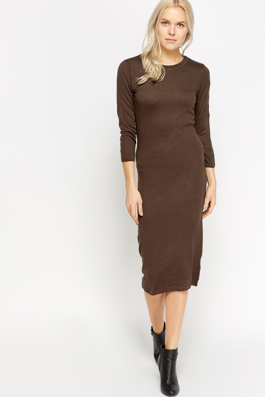 Knitted Long Jumper Dress - Just u00a35