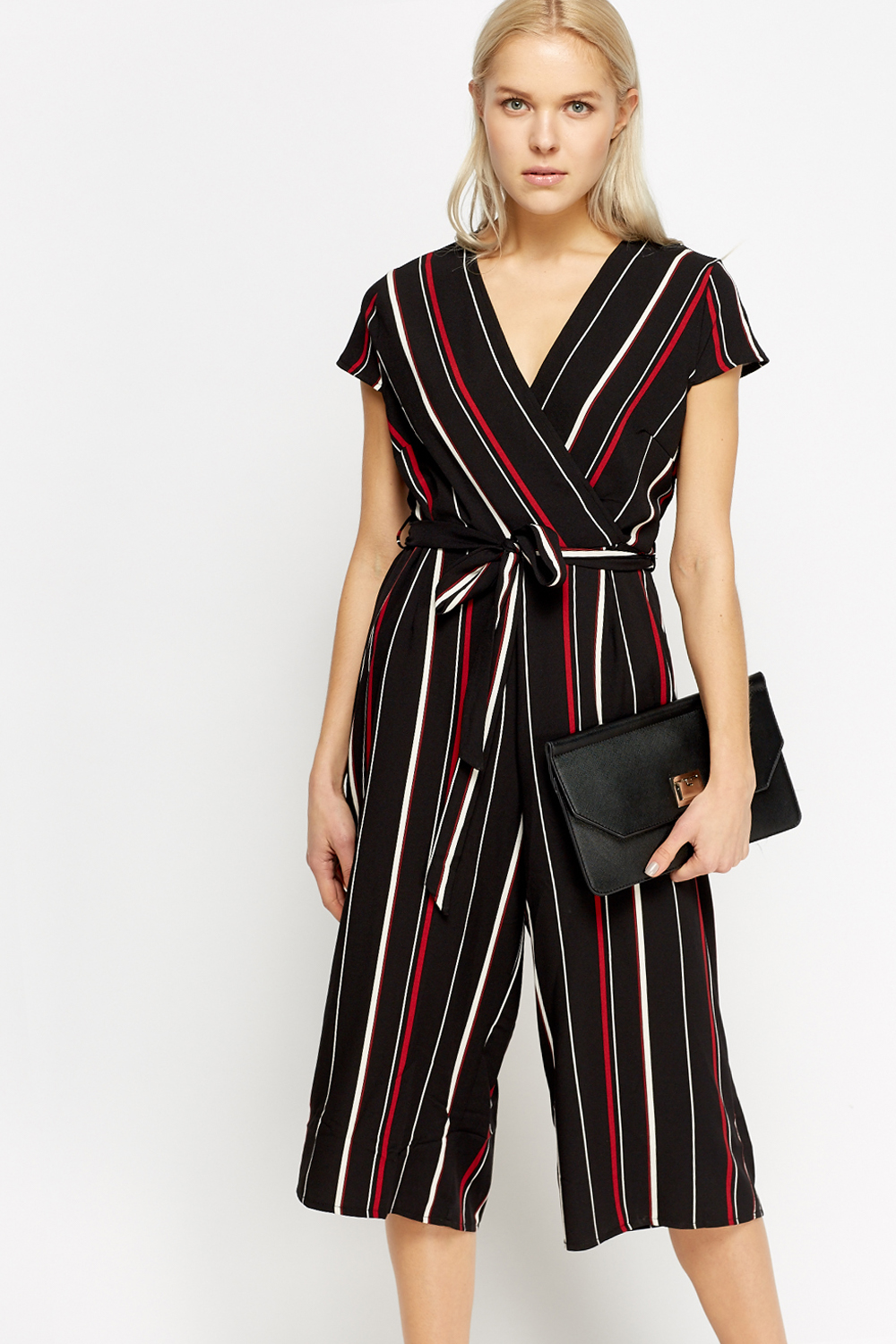 fd0491aa5a7 Striped Cropped Wrap Jumpsuit - Just £5