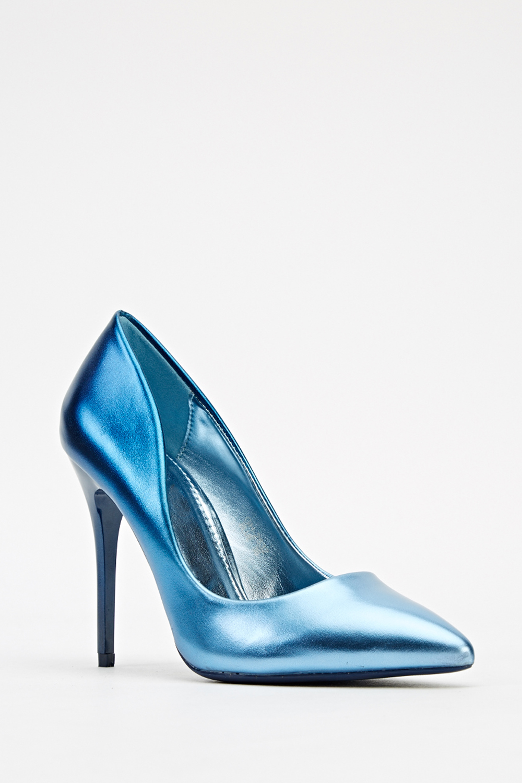 high heel metallic court shoes just 163 5