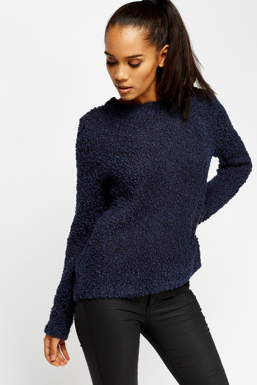 Bobble Knit Casual Jumper Just 163 5