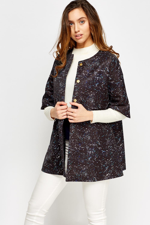 Printed Black Box Jacket - Just £5