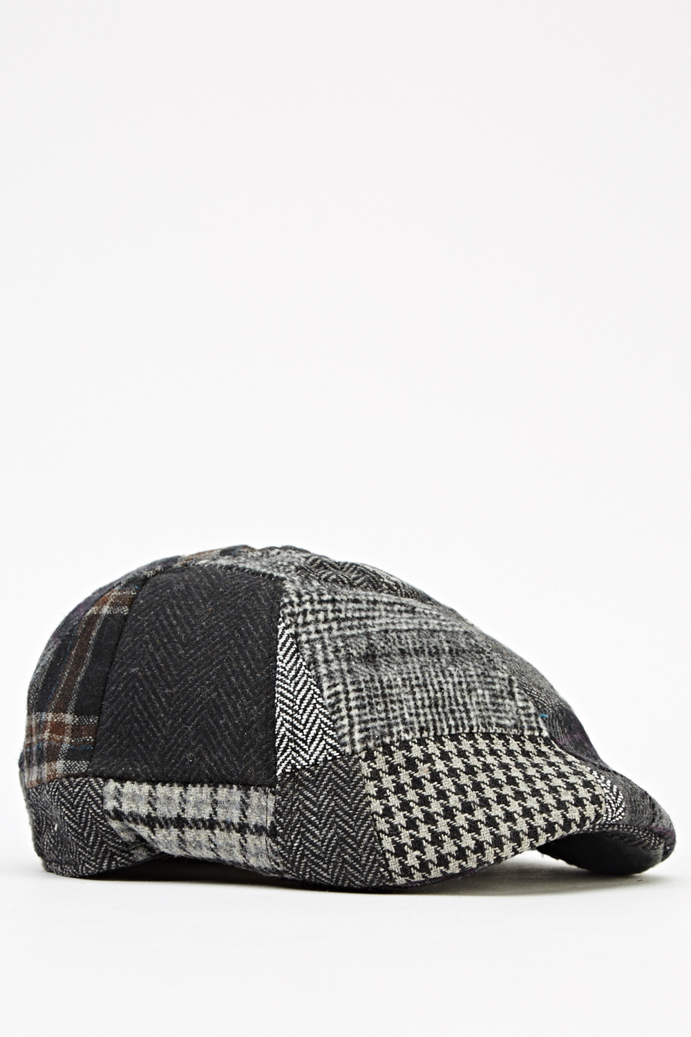 1b5a2f04e981f Mixed Houndstooth Patch Flat Cap - Just £5