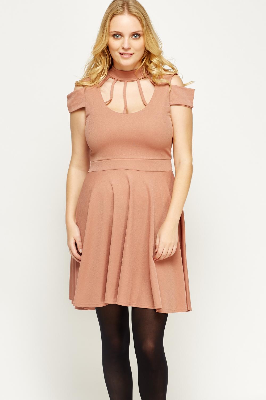 Strappy Halter Neck Skater Dress - Just £5 d331862b6