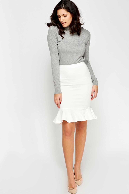 Peplum Hem Pencil Skirt Just 163 5