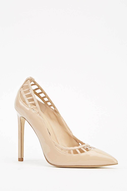Light Pink Cut Court Heels - Just £5 484a91099
