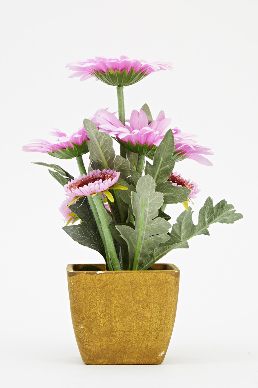 artificial gerbera daisy flower pot just 5. Black Bedroom Furniture Sets. Home Design Ideas