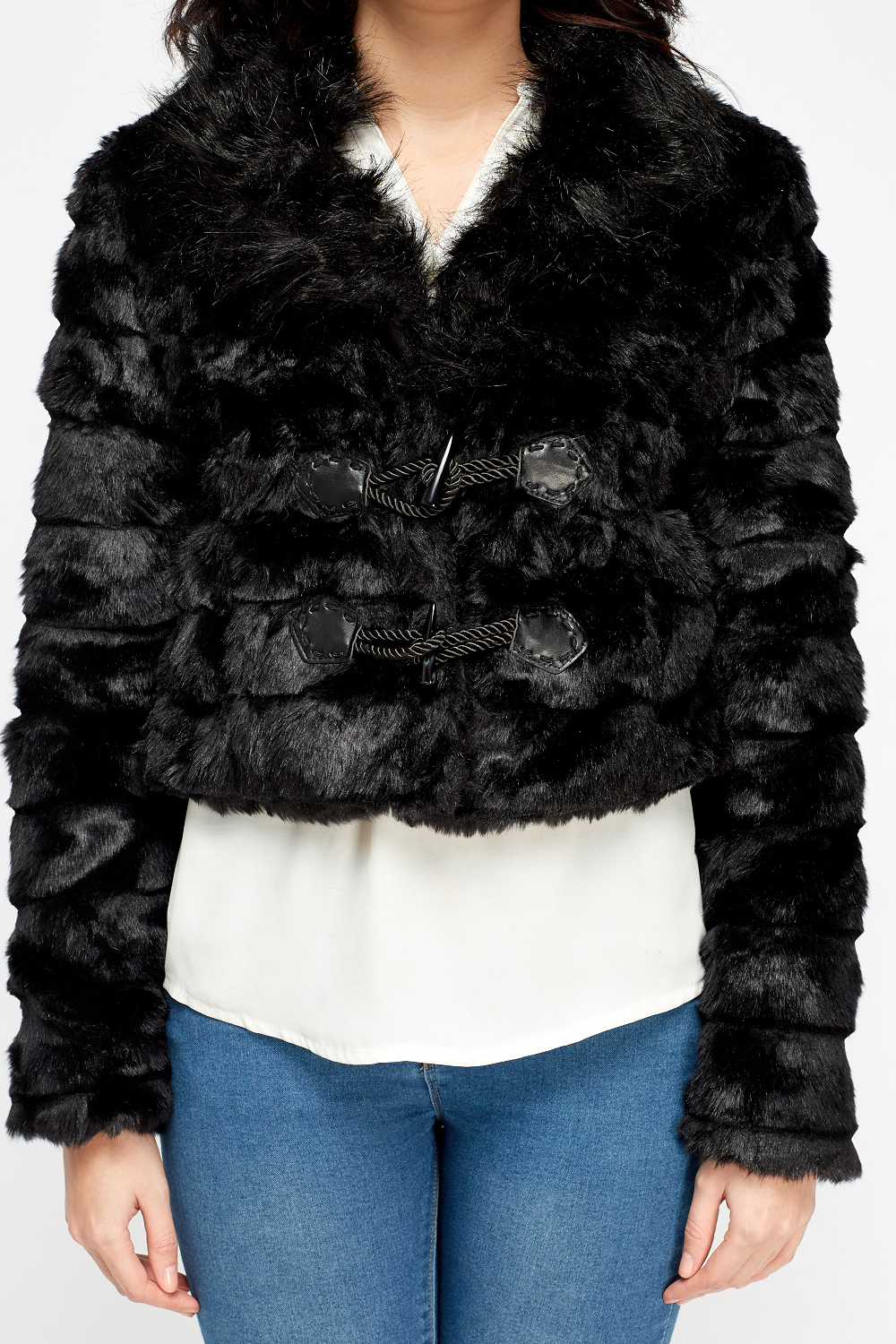 Faux Fur Cropped Jacket Just 163 5